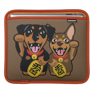 Miniature Pinscher Min Pin Lucky Dog iPad Sleeve