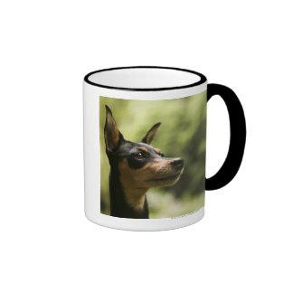 Miniature Pinscher (Min-Pin) Ringer Mug