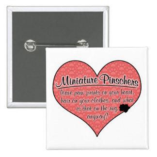 Miniature Pinscher Paw Prints Dog Humor 15 Cm Square Badge
