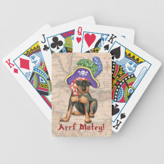 Miniature Pinscher Pirate Bicycle Playing Cards
