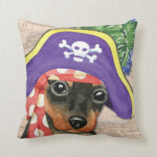 Miniature Pinscher Pirate Cushion