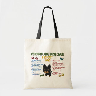 Miniature Pinscher Property Laws 4 Canvas Bags