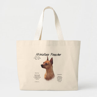 Miniature Pinscher (red) History Design Large Tote Bag