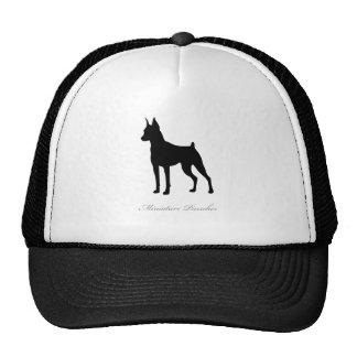 Miniature Pinscher silhouette Trucker Hats