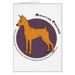 Miniature Pinscher, Stag Red Greeting Cards