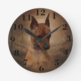 Miniature Pinscher Wallclocks