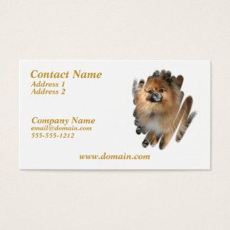 Miniature Pomeranian Dog Business Card