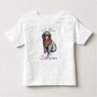 Miniature Poodle Heart Mom T Shirt