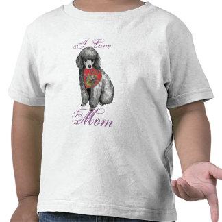 Miniature Poodle Heart Mom T Shirts