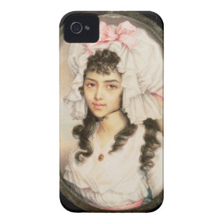 Miniature Portrait of a Girl Case-Mate iPhone 4 Cases