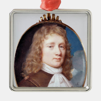 Miniature portrait of an Unknown Man, 1659 Christmas Ornament