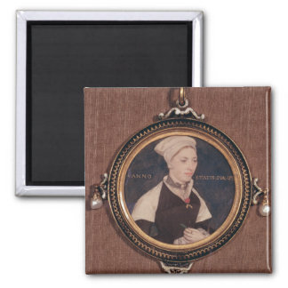 Miniature portrait of Jane Small Square Magnet