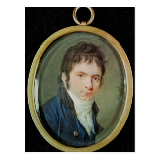 Miniature Portrait of Ludwig Van Beethoven 1802 Postcard
