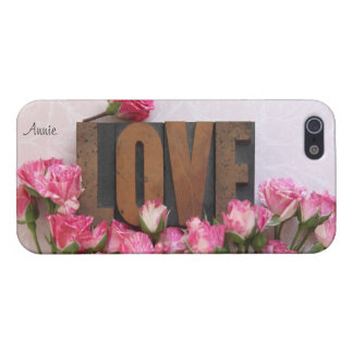 miniature roses with love word iphone 5 savvy case iPhone 5/5S case