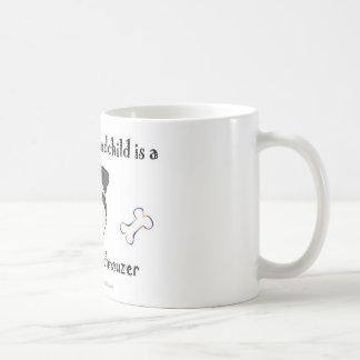 miniature schnauzer basic white mug