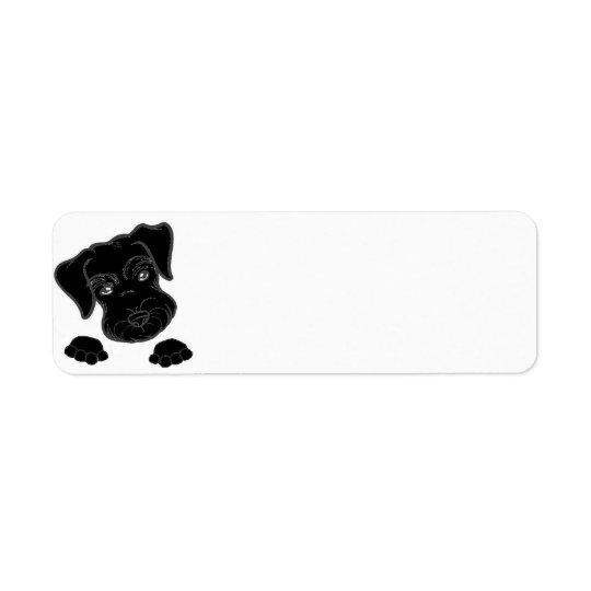 miniature schnauzer black peeking