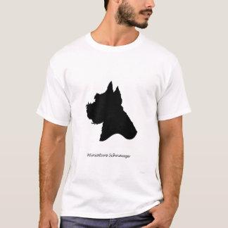 Miniature Schnauzer - black Silhouette T-Shirt