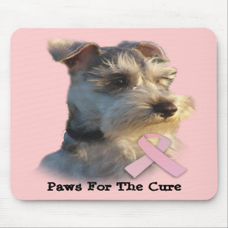 Miniature Schnauzer Breast Cancer Mousepad