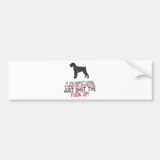 Miniature Schnauzer Bumper Sticker