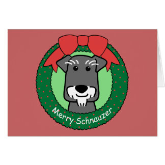 Miniature Schnauzer Christmas Note Card
