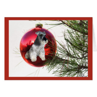 Miniature Schnauzer Christmas Card Ball Hanging