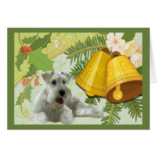 Miniature Schnauzer Christmas Card Bells