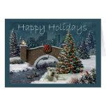 Miniature Schnauzer Christmas Card Evening
