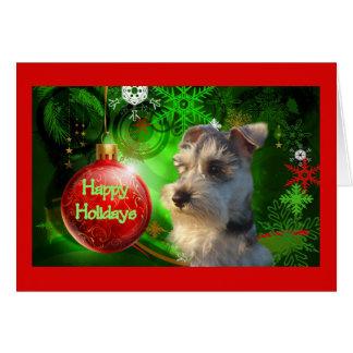 Miniature Schnauzer Christmas Card Happy Holidays