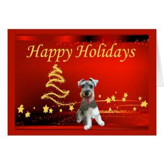 Miniature Schnauzer Christmas Card Stars