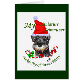 Miniature Schnauzer Christmas Gifts Greeting Cards