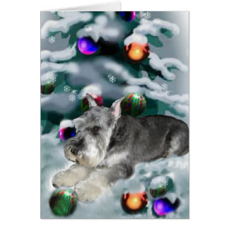 Miniature Schnauzer Christmas Gifts Greeting Card