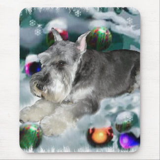 Miniature Schnauzer Christmas Gifts Mouse Pad