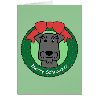 Miniature Schnauzer Christmas Greeting Card