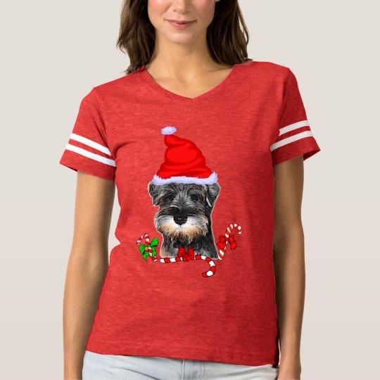 Miniature Schnauzer Christmas Merry T-Shirt