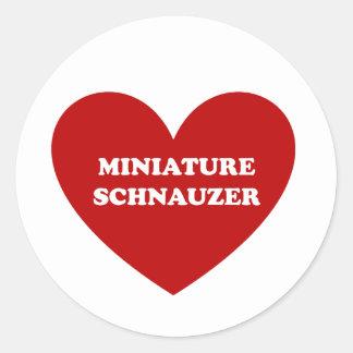 Miniature Schnauzer Classic Round Sticker
