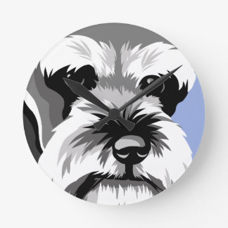 Miniature Schnauzer Clocks