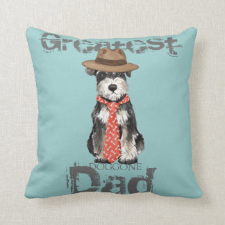 Miniature Schnauzer Dad Cushion