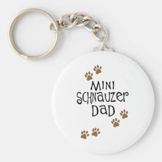 Miniature Schnauzer Dad Key Ring