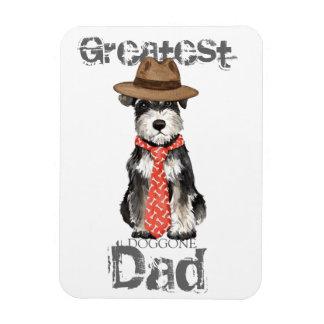 Miniature Schnauzer Dad Rectangular Photo Magnet