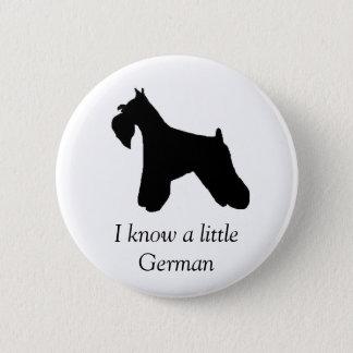 Miniature Schnauzer Dog Button