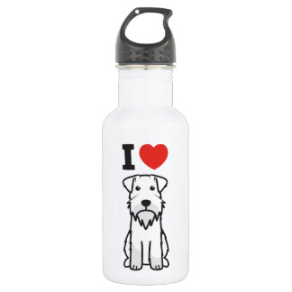 Miniature Schnauzer Dog Cartoon 532 Ml Water Bottle