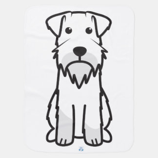 Miniature Schnauzer Dog Cartoon Baby Blanket