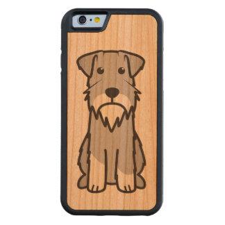 Miniature Schnauzer Dog Cartoon Carved Cherry iPhone 6 Bumper Case