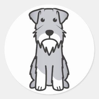 Miniature Schnauzer Dog Cartoon Classic Round Sticker