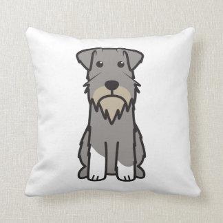 Miniature Schnauzer Dog Cartoon Cushion