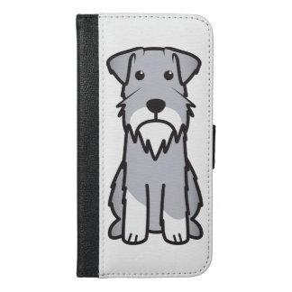 Miniature Schnauzer Dog Cartoon iPhone 6/6s Plus Wallet Case