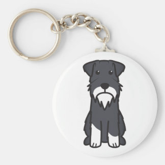 Miniature Schnauzer Dog Cartoon Key Ring