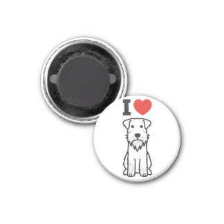 Miniature Schnauzer Dog Cartoon Magnet