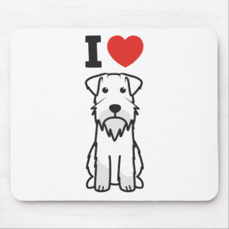 Miniature Schnauzer Dog Cartoon Mouse Mat