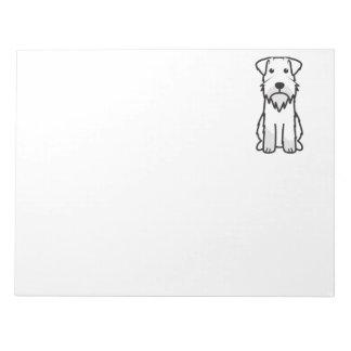 Miniature Schnauzer Dog Cartoon Notepad